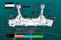 Домодедово, дизайн интерактивной карты аэропорта.