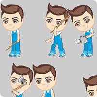 Анимация главного персонажа для игры (Ф)