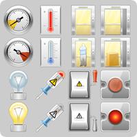 Набор иконок для системы мониторинга