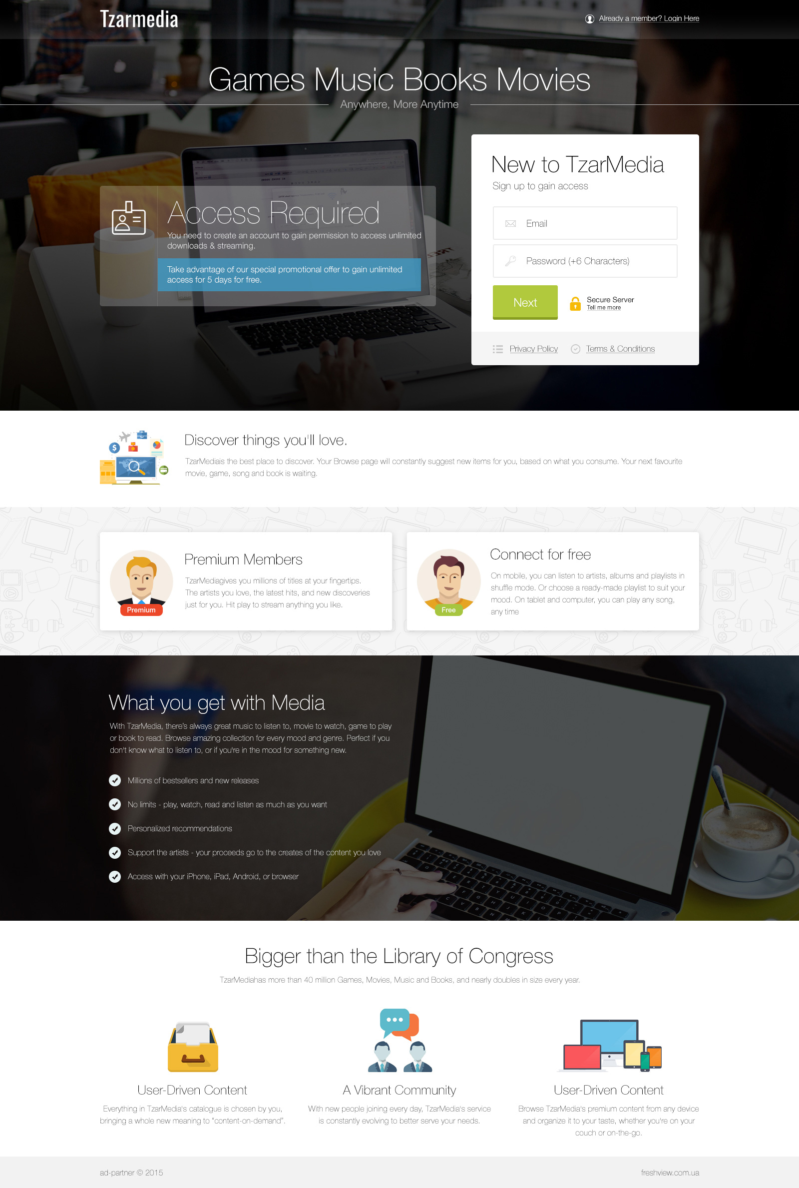 Tzarmedia - адаптивная верстка для планшетов и телефонов, подключение скриптов