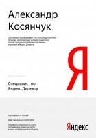 """Сертификат специалиста по работе с системой """"Яндекс.Директ"""" с ПРОКТОРИНГОМ"""