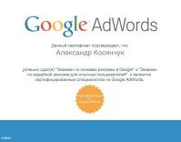 Сертификат Google Adwords Display Advertising