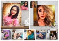 Рекламный пост для студии портретов Dingo Art ВКонтакте
