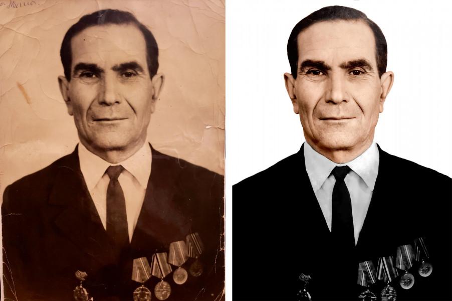 Восстановление старого снимка (до и после обработки)
