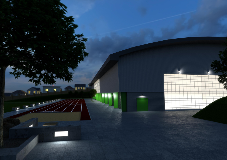 Спортивный зал ночь