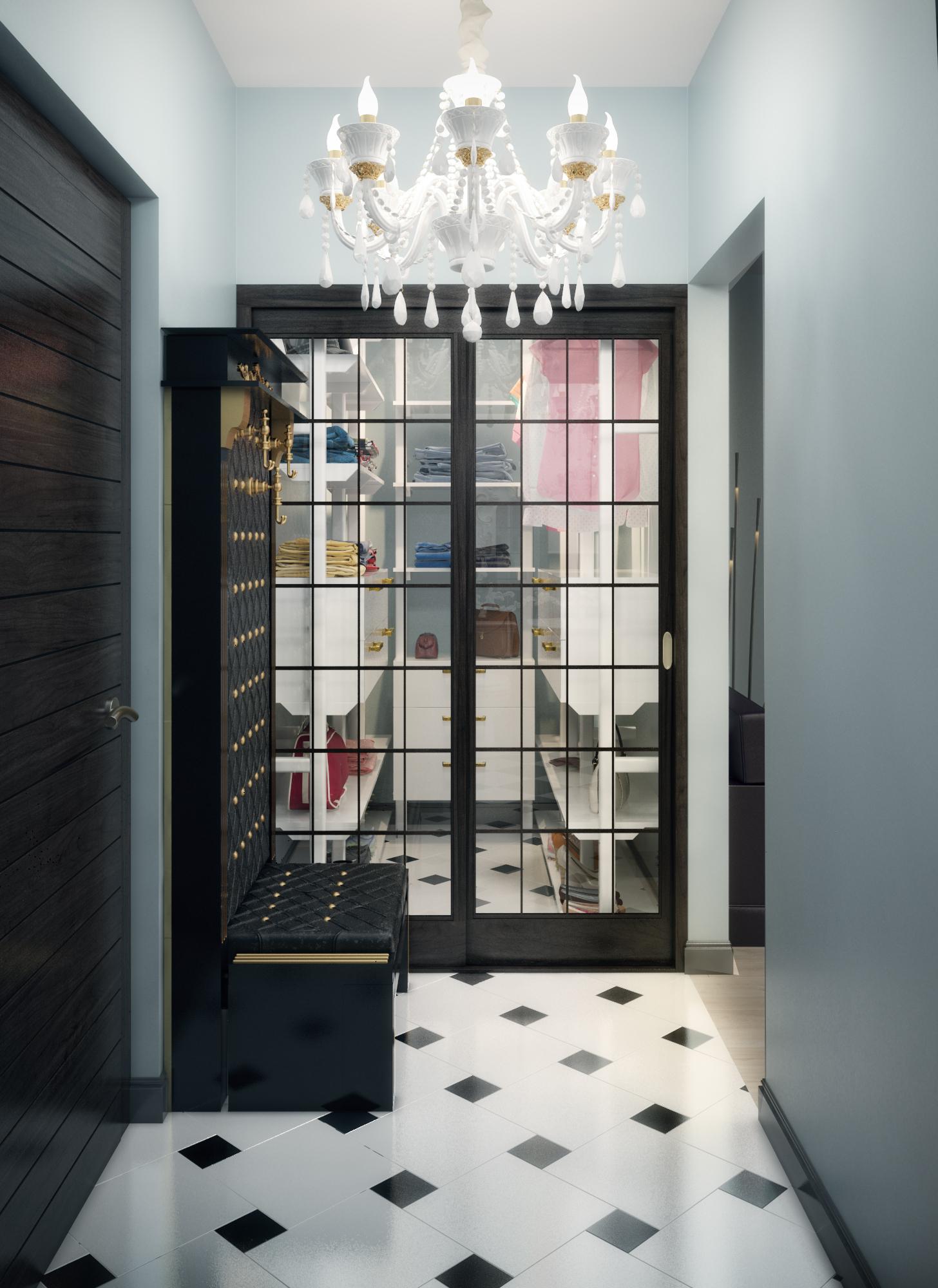 Однокомнатная квартира прихожая и гардероб