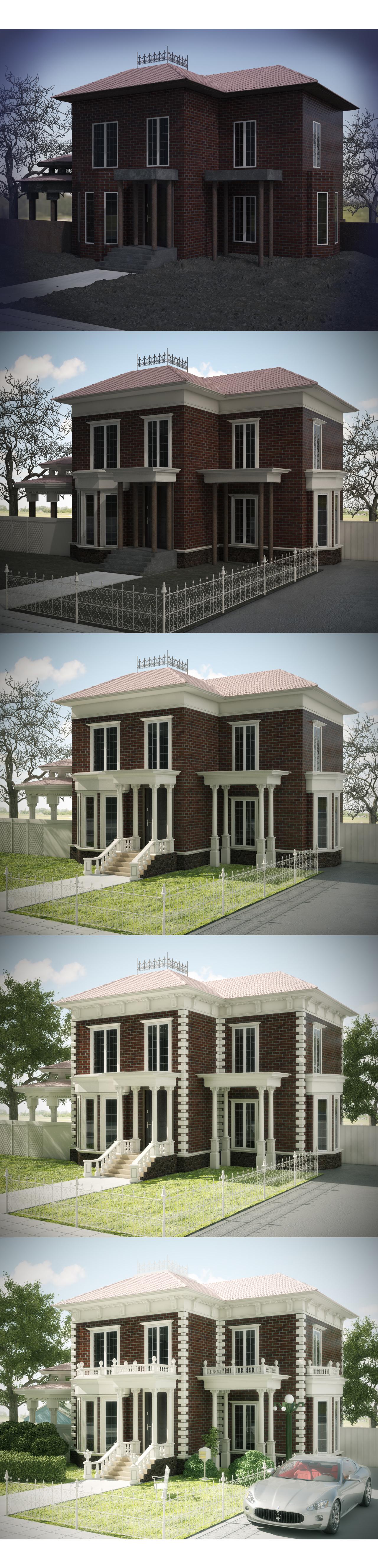 Этапы оформления фасада.