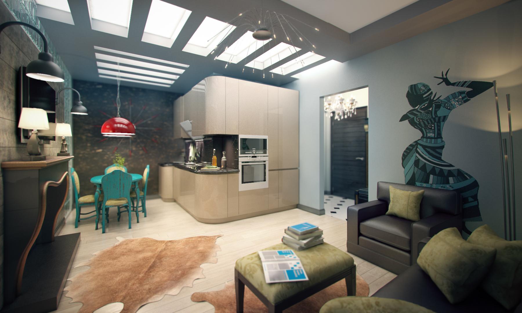 Однокомнатная квартира гостиная зона