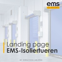 Landing page по продаже промышленных рулонных ворот EMS