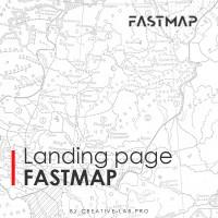Landing page по продаже электронных карт FASTMAP