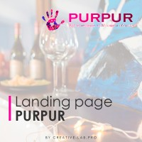 Landing page- Purpurf (арт-вечеринки)