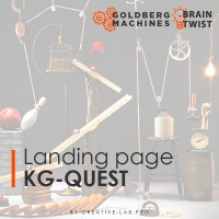Landing page для корпоративной квест-студии KG-Quest