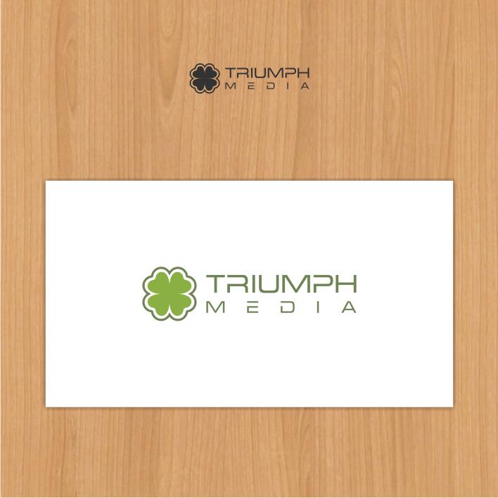 Разработка логотипа  TRIUMPH MEDIA с изображением клевера фото f_5071558cf3c77.png