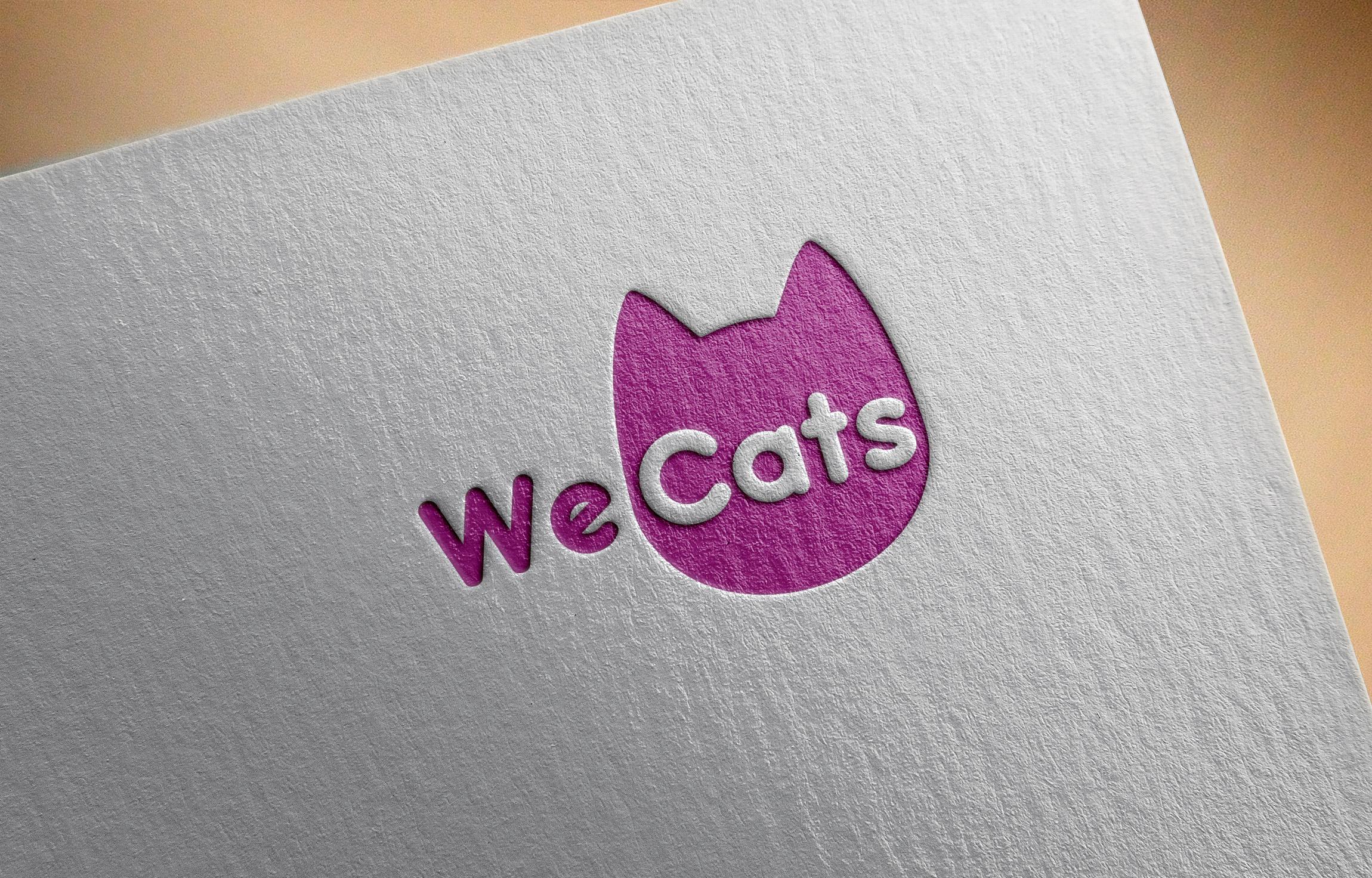 Создание логотипа WeCats фото f_1515f1dc5dd21571.jpg
