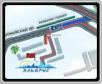 """Карта проезда фирмы """"Ельбрус"""""""