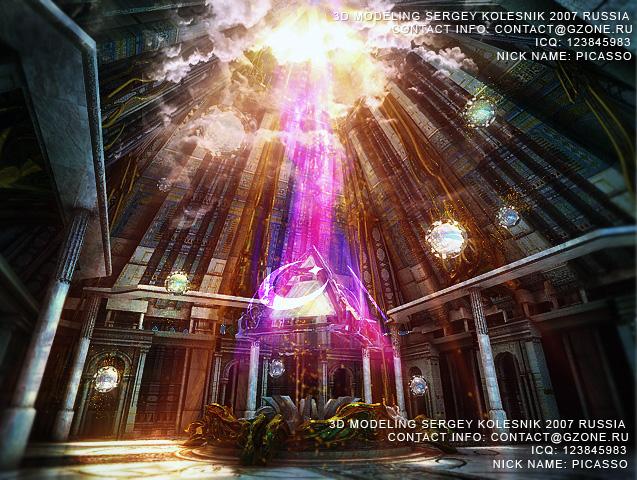 3д арт к игре пирамида магов стихий