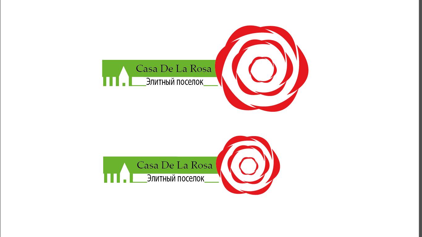 Логотип + Фирменный знак для элитного поселка Casa De La Rosa фото f_3815cd57e043b53c.png