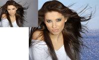 Обтравка волос, замена фона