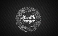 "Логотип кафе быстрого питания ""Health burger"""