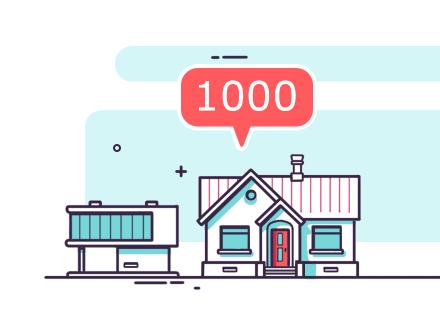 Line art flat о 1000 проектов домов