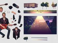 Иллюстрации для анимационного видеоролика