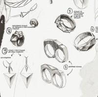 Серия ювелирных украшений (минимализм, брутализм, полигонал-арт)