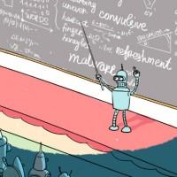 Бендер проводит лекцию о машинном обучении