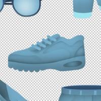 Иконки в стиле material flat для магазина Size4.me (иллюстрации одежды)