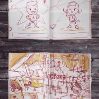 Эскизы комикса для AmRest