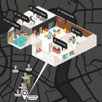 Инфографика - карта проезда и отделы помещений студии