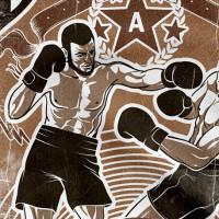 Дизайн принта на тему бокса