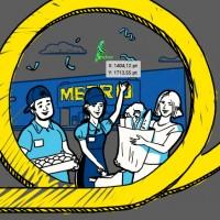 Дудл-графика для ролика о METRO