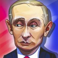 Портрет шарж Путина для игры