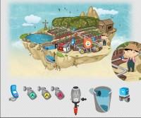 Летающий остров и иконки оборудования для сайта