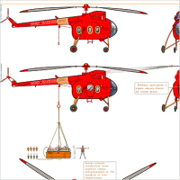 Вертолёт, шлюпка и лебёдка