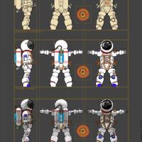 Космонавт под моделирование и текстурирование для 3д мультфильма