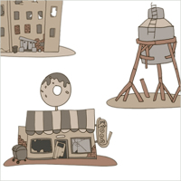 Зомбиленд, постройки для игры