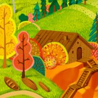 Осень на севере, бесшовный фон для игры