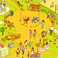Инфографика.Карта ярмарки