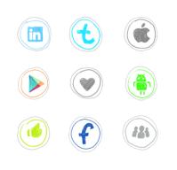 Иконки для KidSquare в стиле наив, примитивизм, рисунок цветной ручкой