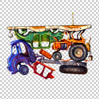 Свалка авто, объекты для игры