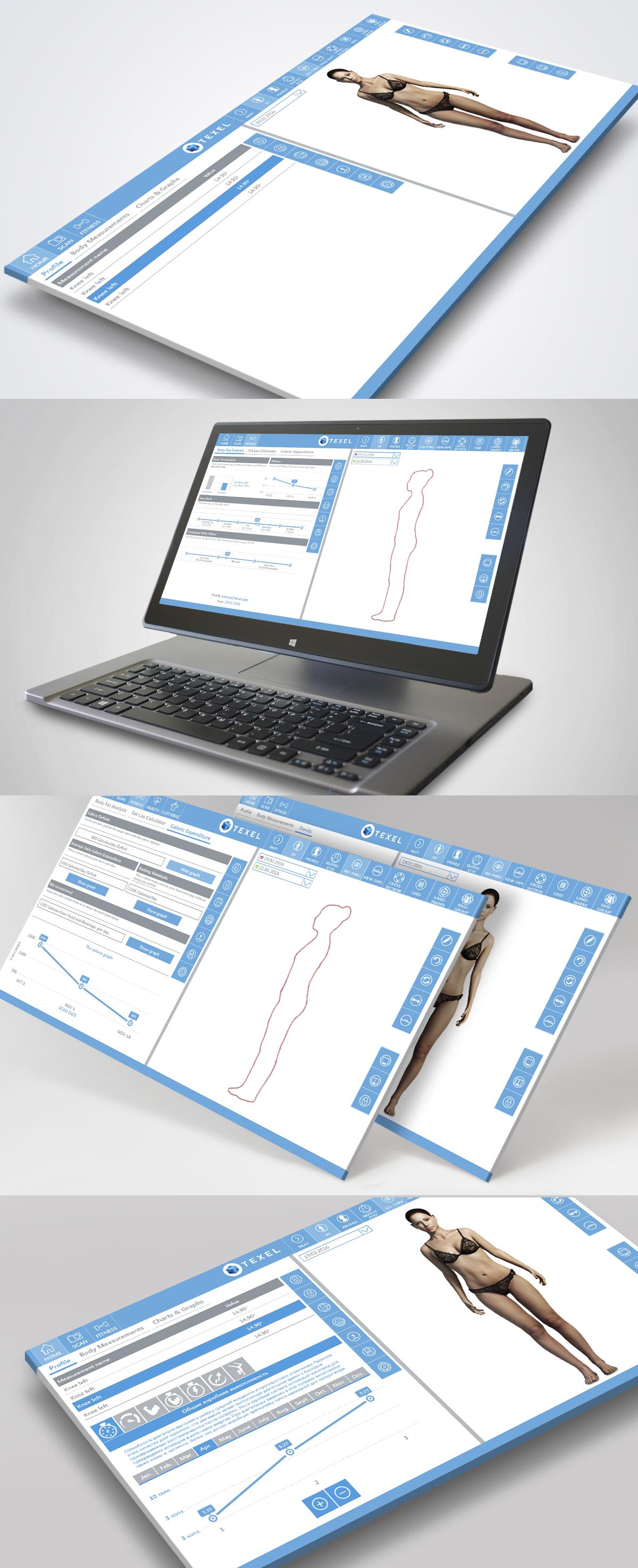 Дизайн интерфейса приложения для фитнеса