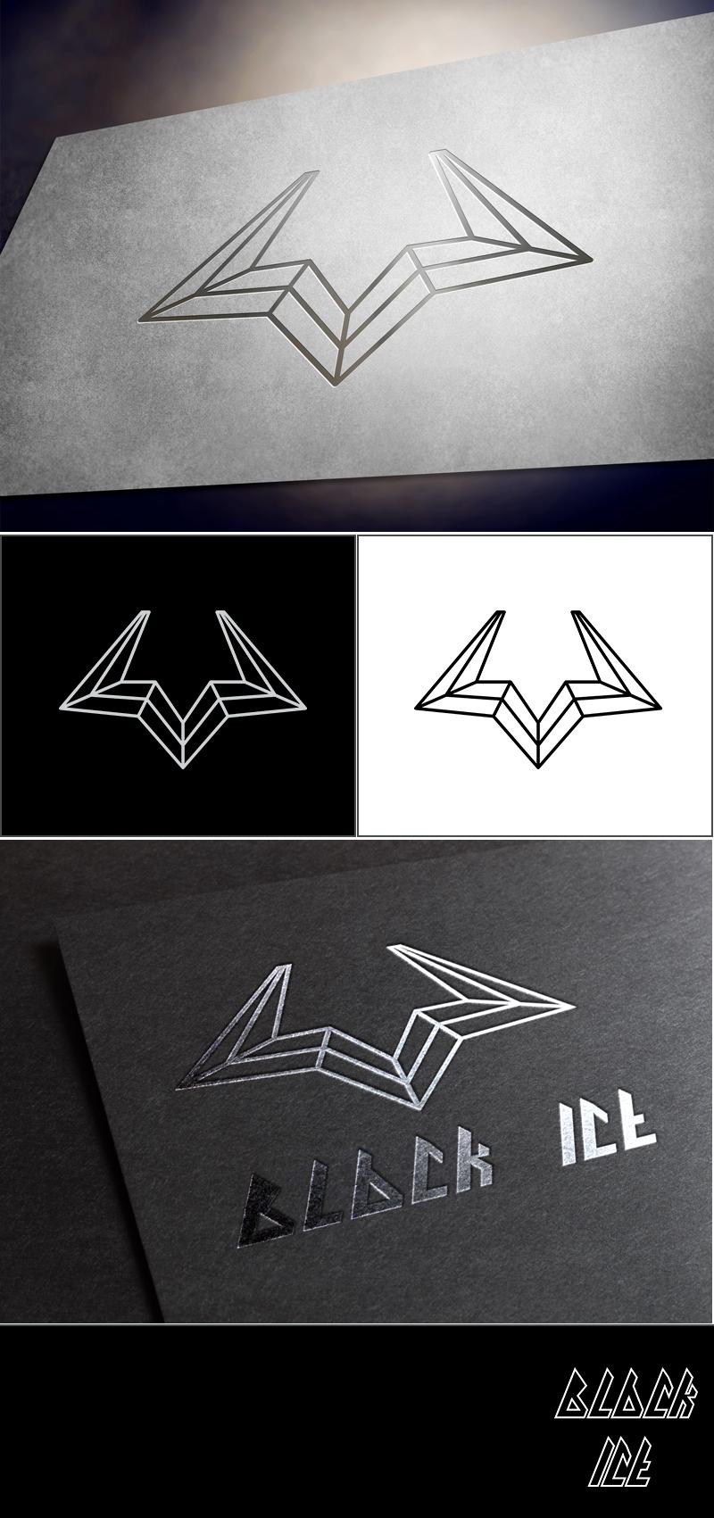"""Логотип + Фирменный стиль для компании """"BLACK ICE"""" фото f_08156e4558e1d91b.jpg"""