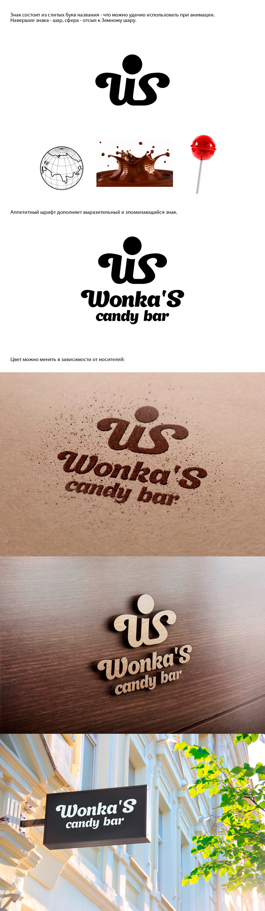 Разработка логотипа магазина сладостей со всего мира. фото f_4845a29a908e9e88.jpg