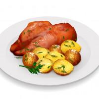 Food иллюстрации для приложения о наборе/снижении веса.