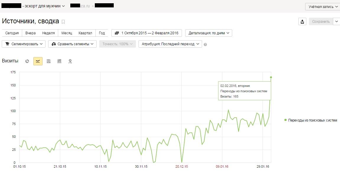 Продвижение сайта по Москве: Интим услуги + 2 000 чел.