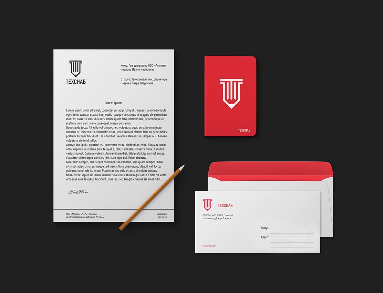 Разработка логотипа и фирм. стиля компании  ТЕХСНАБ фото f_5645b1ec4a8b40af.jpg