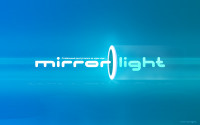 Logo mirror light