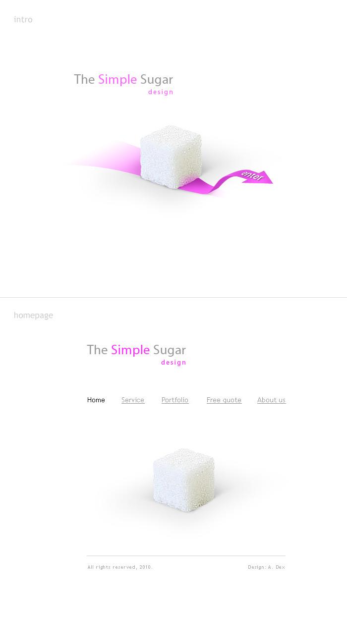 Simple Sugar Design - интро и главная