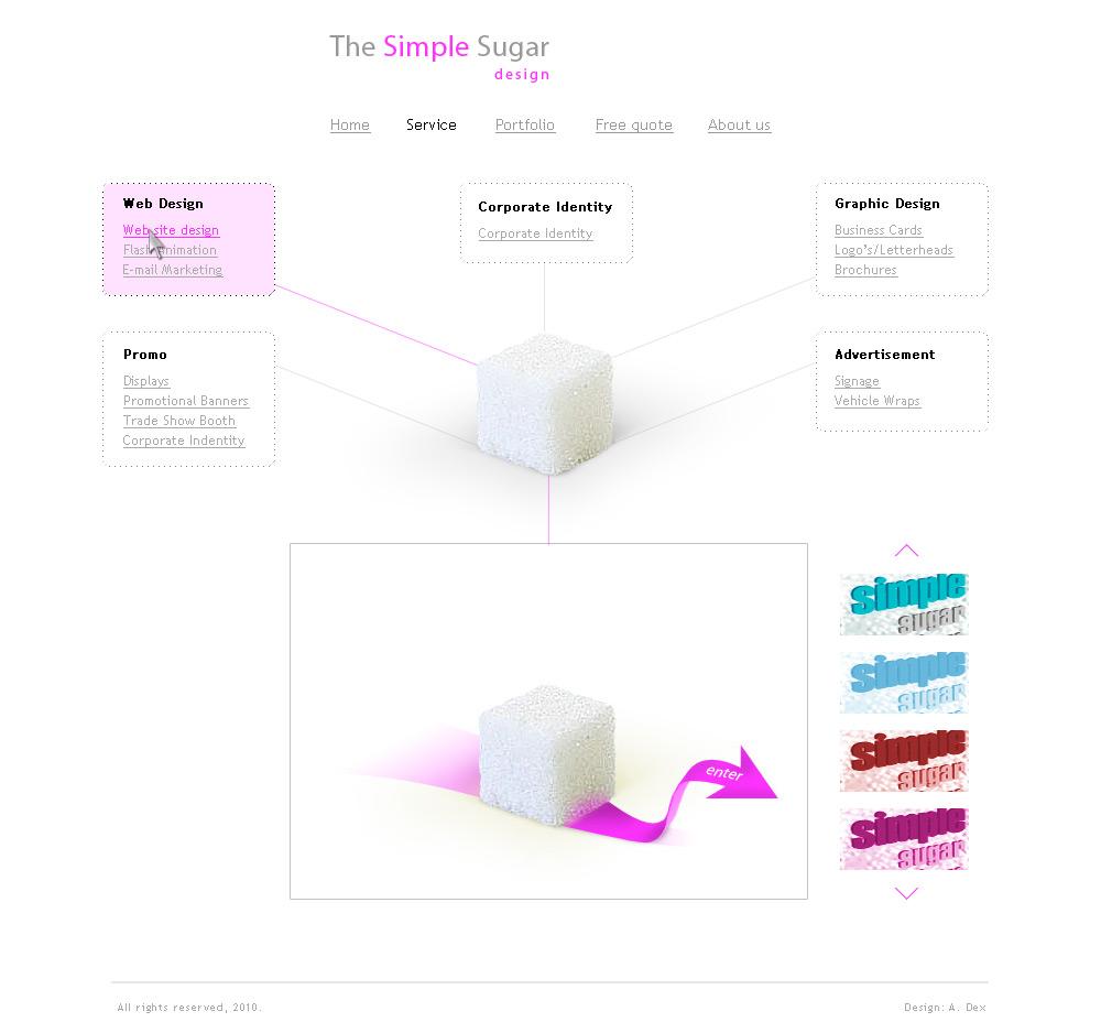 "Simple Sugar Design - страница ""Сервисы"""
